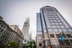 El edificio moderno y aduanas se elevan, en Boston, Massachus Imágenes de archivo libres de regalías