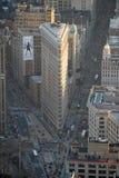 El edificio Nueva York de Flatiron Foto de archivo libre de regalías
