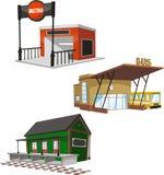 El edificio público fijó 5 ilustración del vector