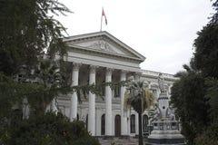 El edificio público Santiago hace Chile foto de archivo libre de regalías