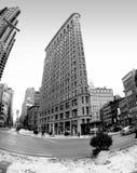 El edificio plano histórico del hierro en New York City, Nueva York los E.E.U.U. Fotografía de archivo libre de regalías
