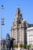El edificio real del hígado, Liverpool Foto de archivo libre de regalías