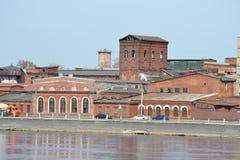 El edificio viejo de la fábrica, St Petersburg imagen de archivo libre de regalías