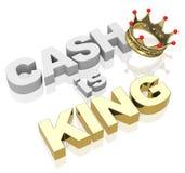 El efectivo es rey Foto de archivo libre de regalías