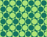 El efecto de pared del café de la ilusión óptica circunda verde Fotos de archivo