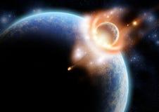 El efecto del meteorito libre illustration