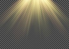 El efecto especial de la llamarada ligera con los rayos de la luz y de la magia chispea Sistema transparente del efecto luminoso  libre illustration