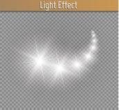 El efecto ligero del resplandor protagoniza explosiones con las chispas aisladas en fondo transparente libre illustration