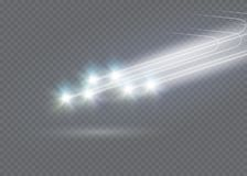 El efecto luminoso de la estrella mágica abstracta del resplandor con la falta de definición de neón curvó líneas Imagenes de archivo