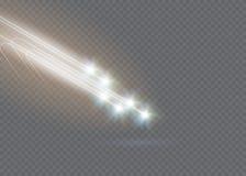 El efecto luminoso de la estrella mágica abstracta del resplandor con la falta de definición de neón curvó líneas Fotografía de archivo