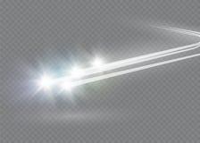 El efecto luminoso de la estrella mágica abstracta del resplandor con la falta de definición de neón curvó líneas Rastro chispean Fotografía de archivo libre de regalías