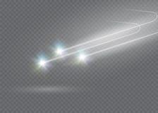 El efecto luminoso de la estrella mágica abstracta del resplandor con la falta de definición de neón curvó líneas Rastro chispean Imágenes de archivo libres de regalías