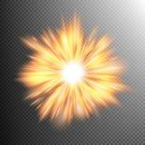 El efecto luminoso protagoniza explosiones EPS 10 Fotos de archivo libres de regalías