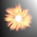El efecto luminoso protagoniza explosiones EPS 10 Foto de archivo libre de regalías