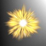 El efecto luminoso protagoniza explosiones EPS 10 Imágenes de archivo libres de regalías