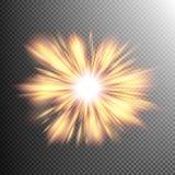 El efecto luminoso protagoniza explosiones EPS 10 Fotografía de archivo libre de regalías