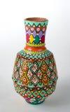 El egipcio adornó árabe pintado colorido del florero de la cerámica: Kolla Foto de archivo libre de regalías