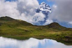 El Eiger cerca de Grindelwald Suiza Foto de archivo libre de regalías
