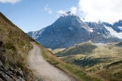 El Eiger en las montan@as suizas Foto de archivo libre de regalías