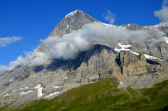El Eiger Nordwand Imagenes de archivo