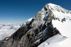 El Eiger - una montaña en las montan@as de Bernese Foto de archivo libre de regalías