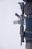 El ejército automático machine-gun Foto de archivo