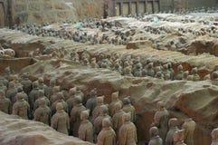 El ejército de la terracota Fotos de archivo