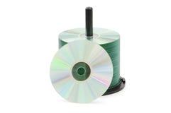 El eje de rotación de discos cd aisló Imagen de archivo