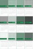 El eje del eucalipto y de mina coloreó el calendario geométrico 2016 de los modelos Libre Illustration