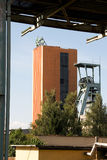 El eje funcional de la mina de carbón nombró el CSM con una torre de la explotación minera Fotos de archivo