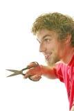 El ejecutarse con las tijeras foto de archivo libre de regalías