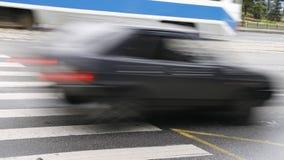 El ejecutarse de los coches Foto de archivo libre de regalías