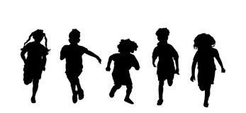 El ejecutarse de los niños Imagen de archivo libre de regalías