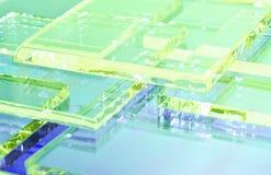 El ejemplo abstracto del vidrio coloreado transparente fotos de archivo libres de regalías