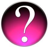 Botón del vidrio del signo de interrogación Imágenes de archivo libres de regalías