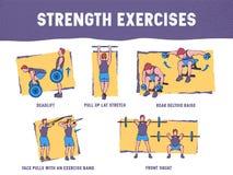 El ejemplo colorido demuestra la técnica apropiada del ejercicio libre illustration