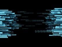 El ejemplo conceptual grande 3d de la transferencia de datos rinde Imagen de archivo