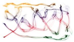 el ejemplo 3d de ondas coloridas parece humo Foto de archivo