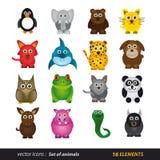 Sistema de animales. Historieta y vector aislados Foto de archivo libre de regalías