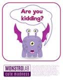 El ejemplo de decir del monstruo es usted que embroma ilustración del vector