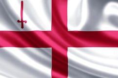 El ejemplo de la bandera de Londres de la ciudad libre illustration
