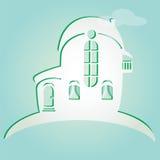 El ejemplo de la casa se puede utilizar como icono del hogar Fotos de archivo libres de regalías