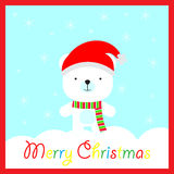El ejemplo de la Navidad con lindo refiere el fondo del copo de nieve en el marco azul conveniente para la postal, el papel pinta Foto de archivo