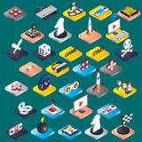 El ejemplo de los iconos gráficos del juego de la información fijó concepto Foto de archivo