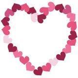 El ejemplo de los pequeños corazones que forman un corazón más grande forma stock de ilustración