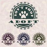 Adopt no hace compras Stock de ilustración