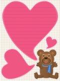 El oso de peluche dice Love_eps stock de ilustración