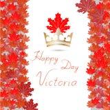 El ejemplo del vector de feliz celebra a Victoria Day ilustración del vector