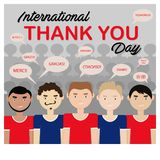 El ejemplo del vector de internacional le agradece día libre illustration