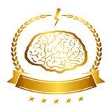 El ejemplo del vector del cerebro diseña icónico, ideas, memoria, educación, Fotografía de archivo